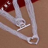Оптовое горячее продавая ожерелье формы сердца покрынное серебром привесное