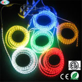 Tira flexible Lighgt del alto voltaje 5050 60LED RGB LED de ETL