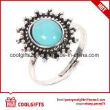 Conjunto de imitación del anillo de la turquesa 7PCS de la irregularidad del estilo de la vendimia