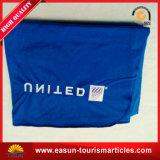 良質の刺繍のロゴのアクリル系の青い飛行機毛布
