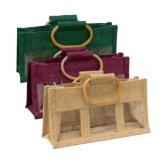 Saco relativo à promoção do punho da bolsa da juta do algodão para a embalagem/o empacotamento