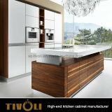 Gabinetes de cozinha novos com projeto da forma
