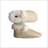 Manteau en peau de mouton en cuir doux pour les bébés de 0 à 15 mois