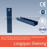 Prateleira longa resistente do metal da extensão para o armazenamento industrial do armazém
