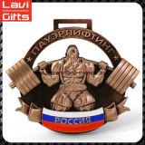 Premio de metal recuerdo medalla deportiva con la cinta