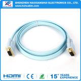 Varón del Hq 3+4 al cable plano masculino del VGA