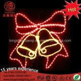 Lumière d'or imperméable à l'eau de corde de motif de Bell de Noël de DEL pour la décoration à la maison