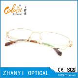 Blocco per grafici di titanio di vetro ottici di Eyewear del monocolo dell'ultimo Pieno-Blocco per grafici di disegno per la donna (9318)