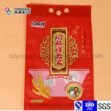 Saco plástico personalizado do punho para o saco de vácuo de nylon do arroz