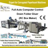 Online Karton onderaan de Machine van het Karton van de Machine van Gluer van de Omslag (de Maker van de Doos RC) met Stapelaar en het Vastbinden