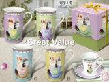Coupe de thé promotionnelle en céramique de la nouvelle conception 2017, tasse de thé en porcelaine