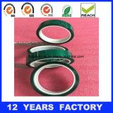 Cinta basada película verde da alta temperatura del poliester del silicón del animal doméstico
