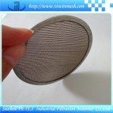 Disco del filtro usado para filtrar el líquido