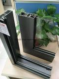 Ha100mm Serie Puerta de aluminio con doble acristalamiento Sliidng
