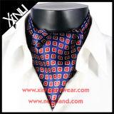 Cravate estampée en soie de relation étroite de foulard de mode de 100% pour les hommes