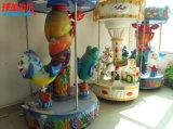 Equipo de atracciones Mini paseo a caballo 3 asientos Super carrusel para niños