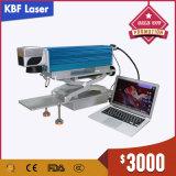 máquina portable de la etiqueta de plástico del laser de la fibra del certificado de 20With30With50W Ce/FDA para los tazones de fuente