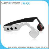 Auriculares estereofónicos brancos do rádio da condução de osso de Bluetooth do telefone móvel