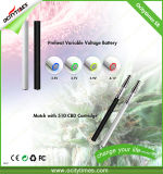 La vente chaude 280mAh S8 d'Ocitytimes préchauffent la batterie du pétrole 510 de Cbd avec la tension variable