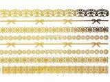Etiqueta engomada temporal impermeable metálica del tatuaje de la flor de cadena de la pluma del oro