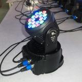 3W RGB Bewegende Heas LEIDENE van de Was 18PCS Licht van de Club