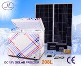congelatore a bassa energia di energia solare 208L