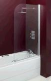 Singolo schermo di acquazzone rotondo dello schermo del bagno della stanza da bagno 6mm (MSRBS80)