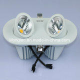 よいデザインは360度の回転倍2*9W穂軸LED Downlightの先頭に立つ