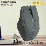 Ratón óptico sin hilos grande del juego de los botones 2.4G de la talla 6