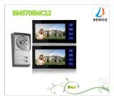 "7 da "" intercomunicador video prendido Doorphone do projeto da tecla do toque cor TFT LCD"