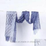 Entwürdigender Paisley gedruckter Polyester-langer Schal (HWBPS32)