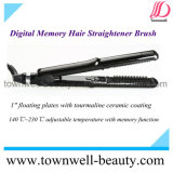 Memoria digital plancha de pelo de cepillo