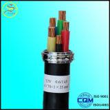 Câble d'alimentation plus vendu isolé par XLPE de cuivre de système mv