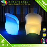 색깔 변경 LED 여가 의자 소파 정원 가구 LED 소파