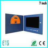Promocional 7 Card Folleto pulgadas LCD Video en Adverting