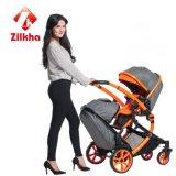 Sichere und luxuriöse Version des Zwei-Sitzkinderwagens