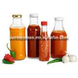 Flaschen der Soße-375ml mit Schrauben-Plastik/metallischer Schutzkappe