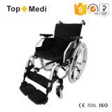 [مديكل قويبمنت] [توبمدي] مقادة عرض ألومنيوم قابل للتعديل يطوي كرسيّ ذو عجلات يدويّة