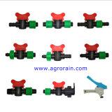 Valvola di plastica dell'accoppiamento del nastro del gocciolamento della serratura di irrigazione goccia a goccia