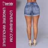 Il denim ansima i jeans di Short della donna dei pantaloni (L462)