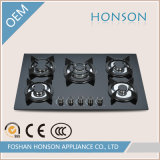 Cinque Burners Tempered Glass Built in Gas Hob Gas Stove