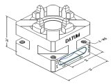 CNC Wedm 기계를 위한 Erowa Ce_e 034387 빨리 수동 물림쇠 Its50