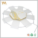 White creativo Octagonal Paper Gift Box con Rope