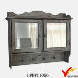 2 laden 2 de Stevige Houten Retro Witte Rustieke Spiegel van Haken met Plank