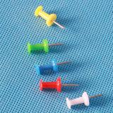 Gli articoli per ufficio hanno colorato il Pin di plastica di spinta (QX-P001) 8*23mm