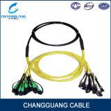 Utilisation militaire de distribution par câble de système de communication de ventes chaudes