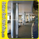 Rivestimento circolare inciso decorativo della colonna dell'acciaio inossidabile di rivestimento