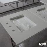 Parte superiore di vanità della stanza da bagno della superficie del quarzo di resistenza della graffiatura