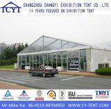 Grande tente dure permanente extérieure d'exposition de mur en verre