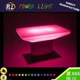Muebles LED de plástico iluminado RGB LED mesa de comedor